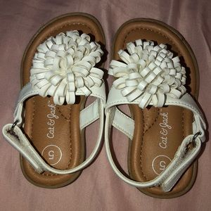 Size 5 Cat and Jack White Sandals